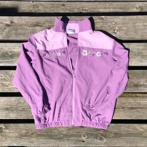 VTG Blair Pastel Embroidered Windbreaker Jacket